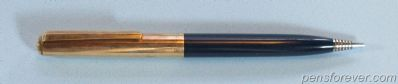 PARKER 21 MECHANICAL PENCIL CUSTOM IN BLUE - GOLD FILLED CAP AND CLIP