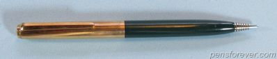 PARKER 21 MECHANICAL PENCIL CUSTOM IN GREEN - GOLD FILLED CAP AND CLIP