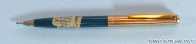 PARKER 21 LIQUID LEAD CUSTOM IN GREEN - GOLD FILLED CAP AND CLIP - RARE